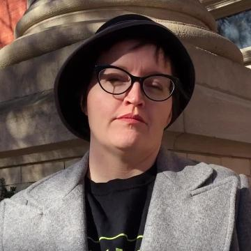 Jennifer Kitchen, a 2017 News Leader Newsmaker, discusses the significance of the Augusta County Courthouse as the site of many rallies she organized this year.