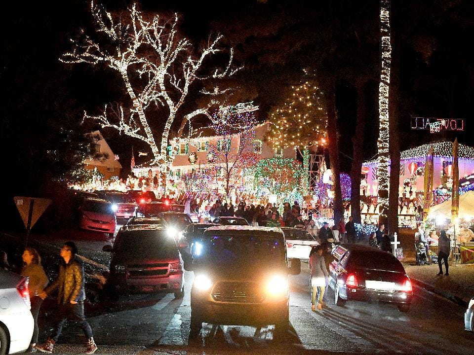 "Photographer Mike Tripp offers a visual peek from a recent visit to ""A Phifer Christmas"" in Richmond -- winners of ABC's ""The Great Christmas Light Fight"" show."