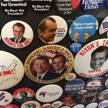 A closer look at the political history recorded in photos and memorabilia at the UVa. Center for Politics.