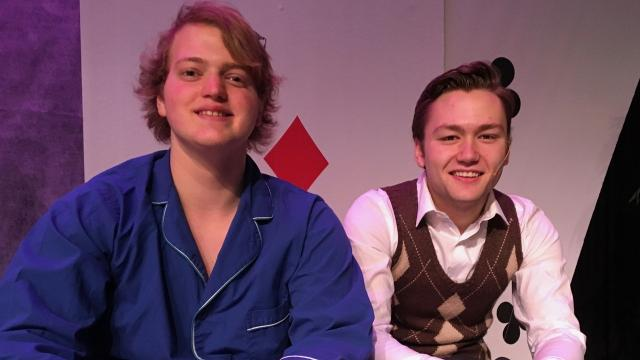 "Gov. School theater students talk about playing the leads in ""Lucky Stiff"" at ShenanArts Jan. 18-21."
