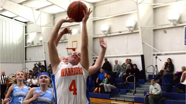 Grace Christian's Heather Clem scored her 1,000th point recently.