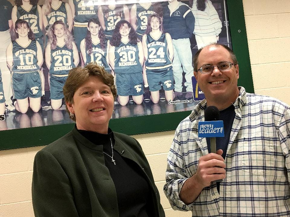 Pregame --- East Rock vs. Wilson Memorial matchup as they go for the Shenandoah District girls basketball championship. Sports reporter Patrick Hite with Wilson head coach Jackie Bryan before tipoff Tuesday night, February 15.