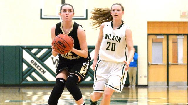 Buffalo Gap's Leah Calhoun and Amaya Lucas discuss Thursday's win over Wilson Memorial in the Region 2B girls basketball semifinals.