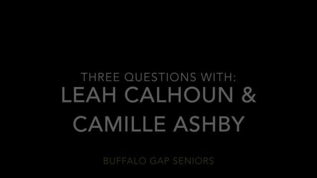 Buffalo Gap's Leah Calhoun and Camille Ashby are getting ready for their state quarterfinal game with Prince Edward, but they took some time to answer three questions from The News Leader's Patrick Hite.