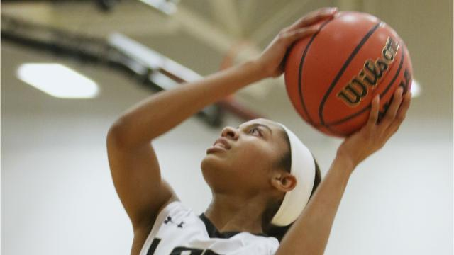 Following Buffalo Gap's win over Prince Edward Friday, freshman Amaya Lucas, who had 20 points and 10 rebounds, talked with The News Leader's Patrick Hite