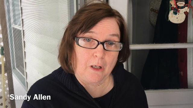 Nearby resident Sandy Allen talks about a crash in which two people were killed. Staunton police said a train struck a vehicle Monday afternoon in Staunton.