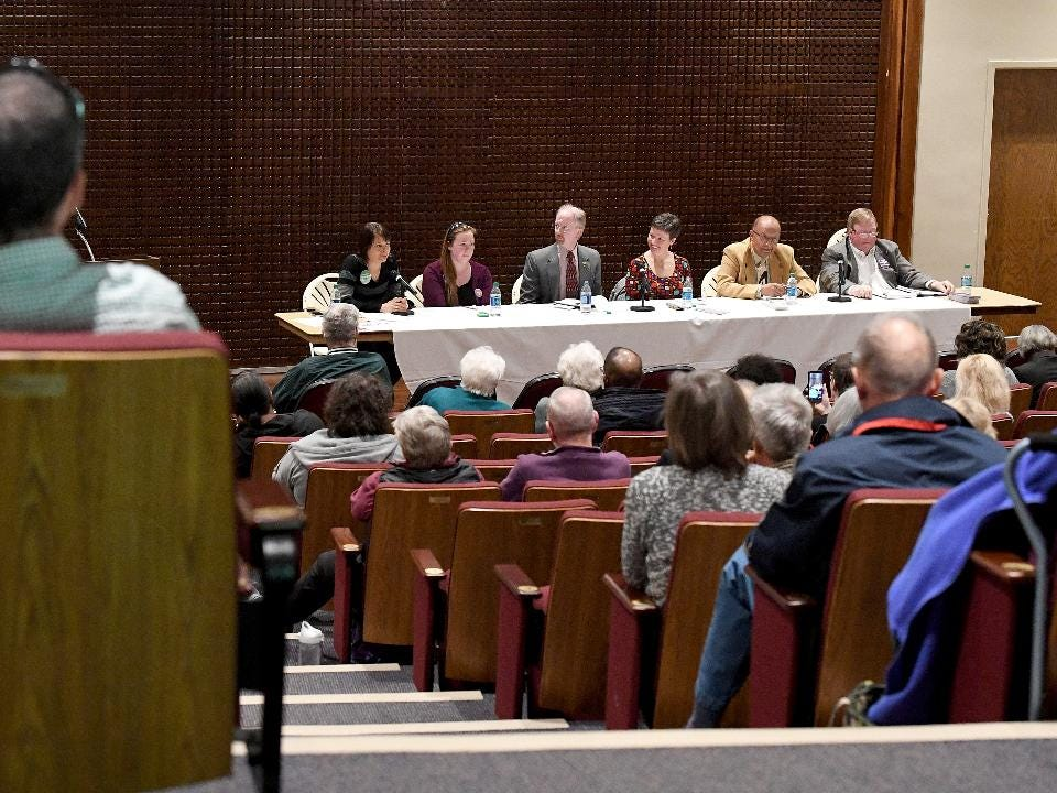 Staunton candidates forum - Part I: Candidates for Staunton school board participate in candidate forum held in Francis Auditorium at Mary Baldwin University on Wednesday, April 11, 2018.