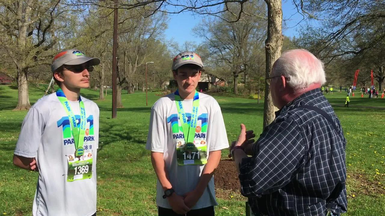 Saturday'sPark-to-Park Half Marathon in was more than just a race forthe Waynesboro High School distance standouts Jacob Robeck and Stuart Vailes —and News Leader sports writer Patrick Hite.