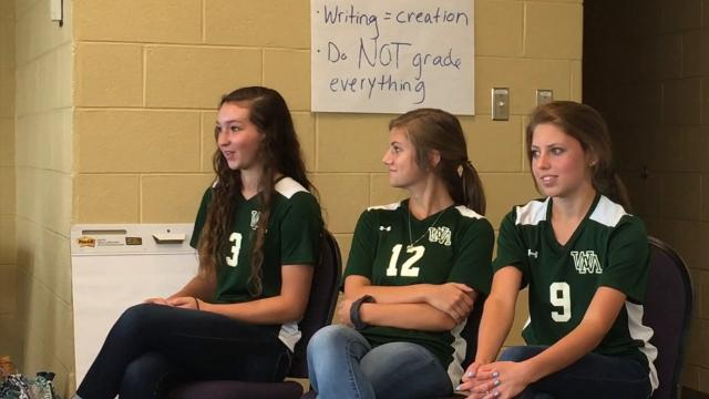 Team building and communications were two of the topics that three Wilson Memorial girls soccer players and their coach discussed Wednesday.