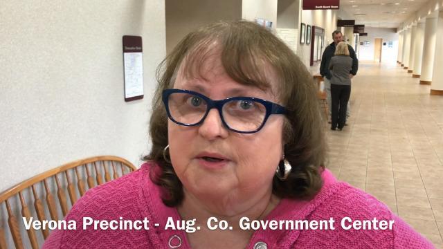 Sandra Harris of Verona explains why she felt it was important to vote Tuesday.