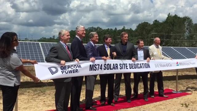 Lamar County Solar Energy Facility dedication