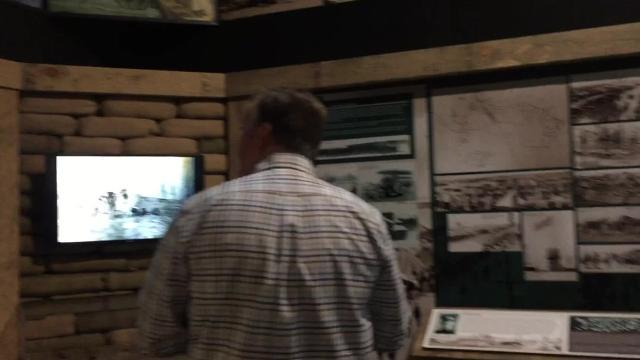 Chad Daniels gives a tour of the Mississippi Armed Forces Museum