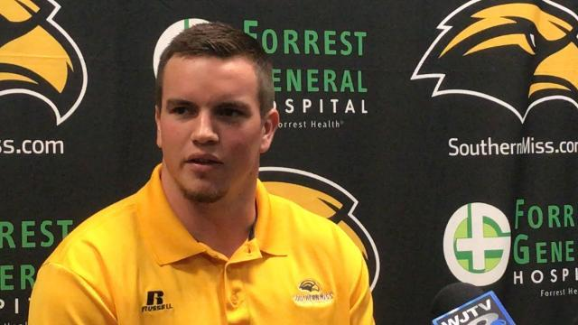 Video | USM's Paxton Schrimsher talks move to inside linebacker