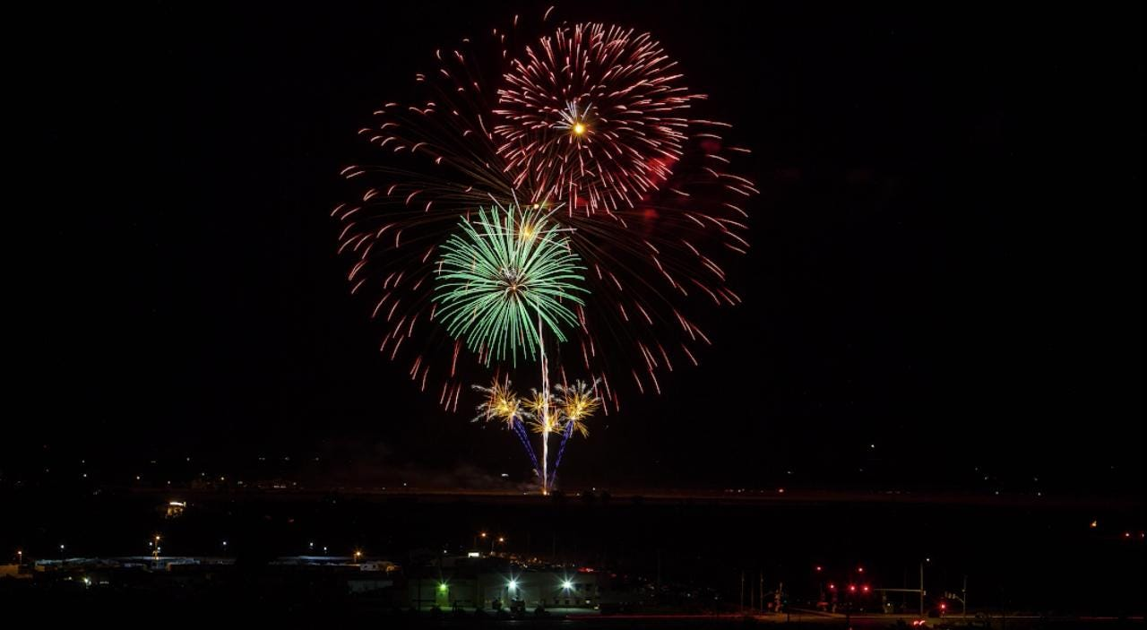 Cedar City celebrated the Fourth of July with their annual fireworks show on Tuesday, July 4, 2017.