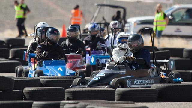 SkyWest partners compete in the annual Mini Indy Friday, March 23, 2018.