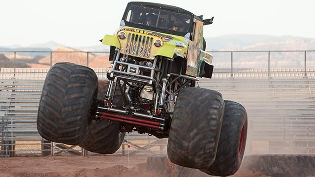 Monster Truck Hysteria, presented by Team KCM, performs at the Washington County Fairgrounds Saturday, June 2, 2018.
