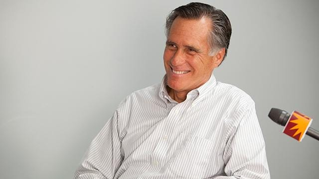 Republican U.S. Senate candidate Mitt Romney stopped by The Spectrum & Daily News office to discuss his take on current events and his campaign plans Tuesday, June 12, 2018.