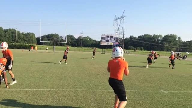 South Gibson's football team has lived at the fieldhouse this week, literally. Here are a few clips of a couple of things they've done.