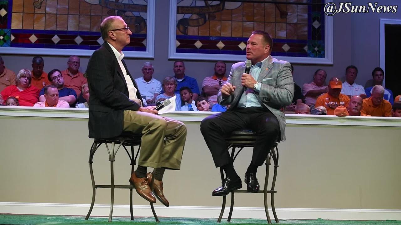 Second Baptist Union City hosted University of Tennessee head football coach Butch Jones, Thursday, July 21, 2017.