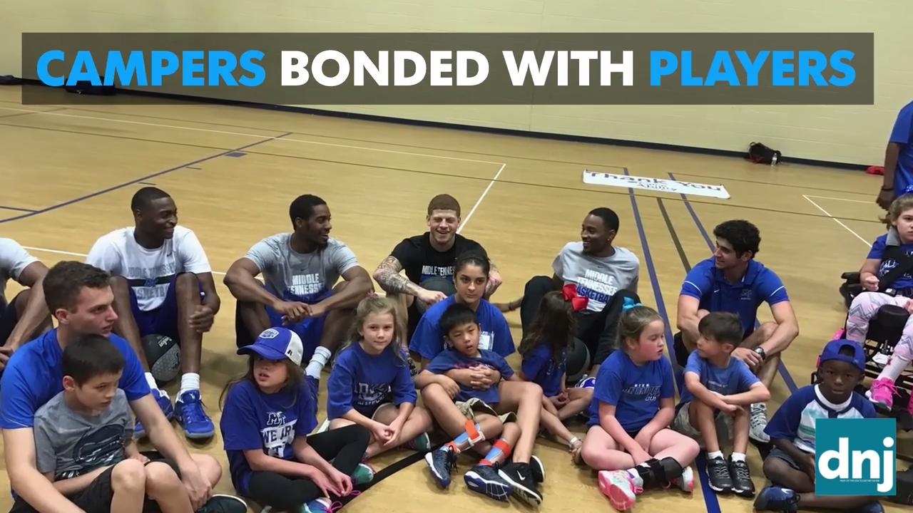 MTSU men's basketball holds camp for kids with special needs
