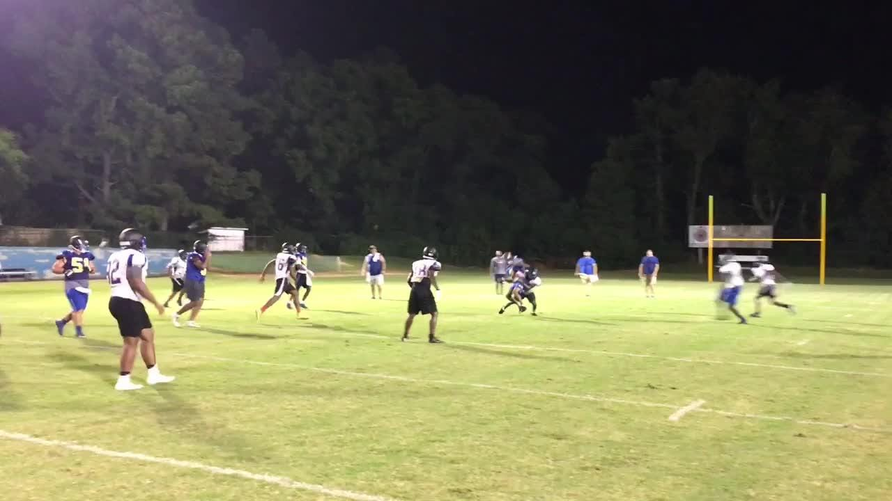 North Side practices in pads on Tuesday evening.