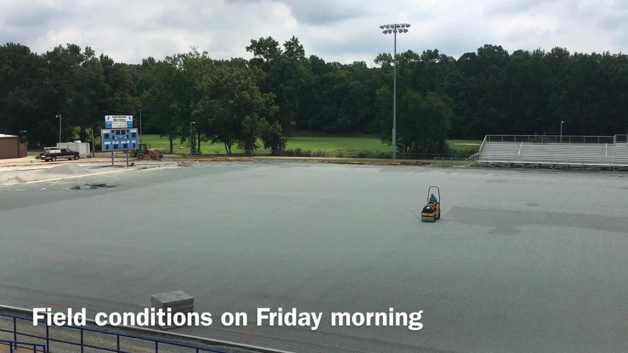 Clips from Thursday and Friday of the field at Paul Ward Stadium being prepared for turf.
