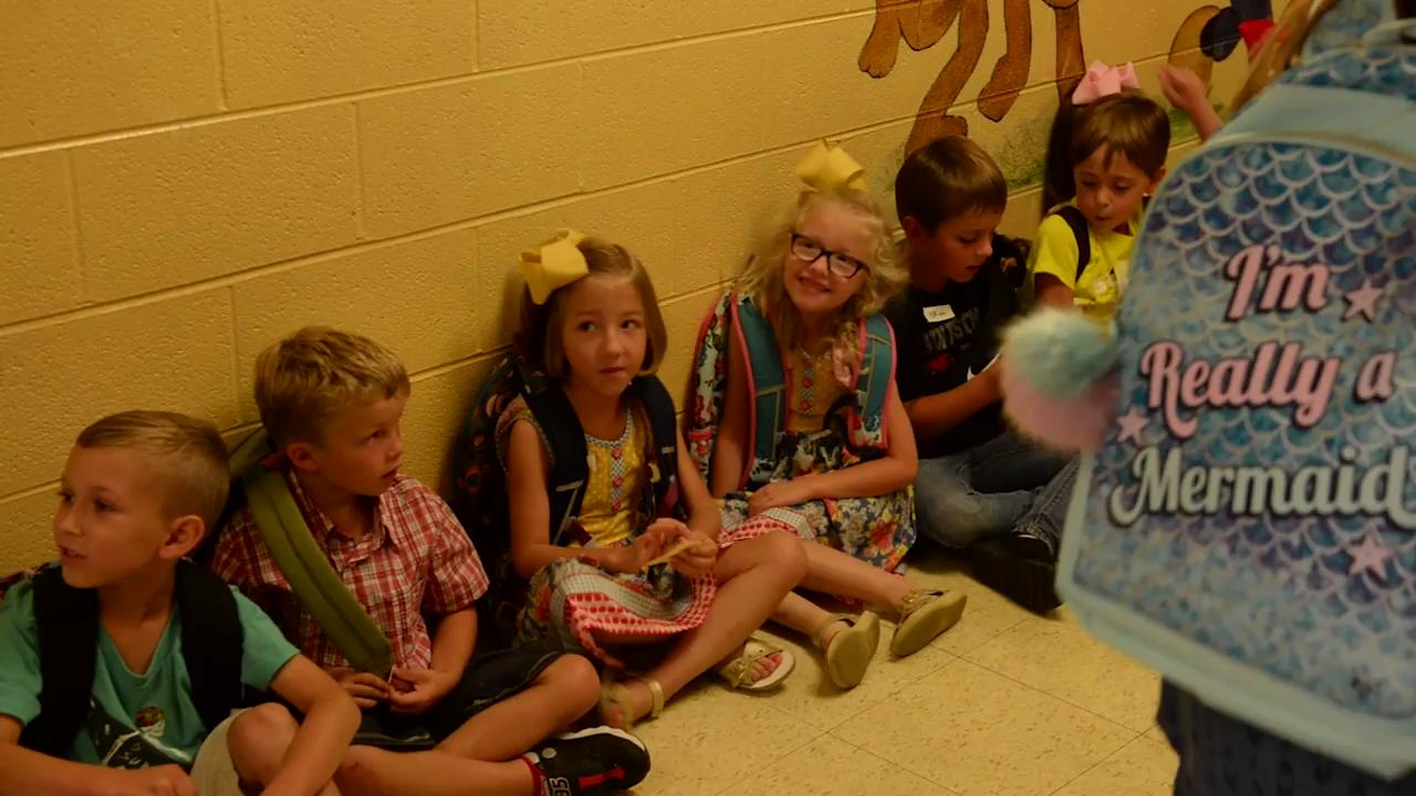 Students at Montgomery Central Elementary had their first half day back at school.