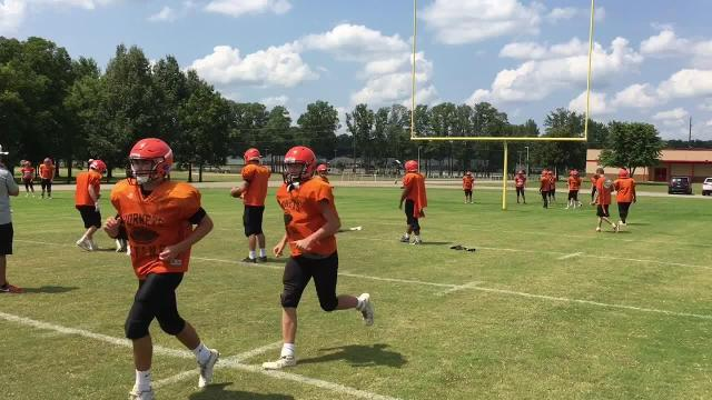 WATCH: South Gibson practices for Friday's scrimmage