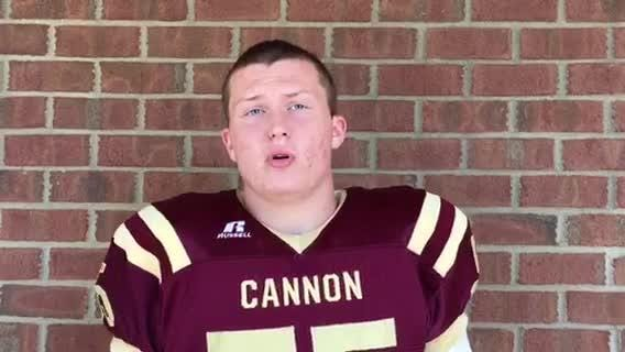 Cannon County lineman Cole Hill