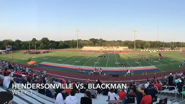 Hendersonville at Blackman football highlights