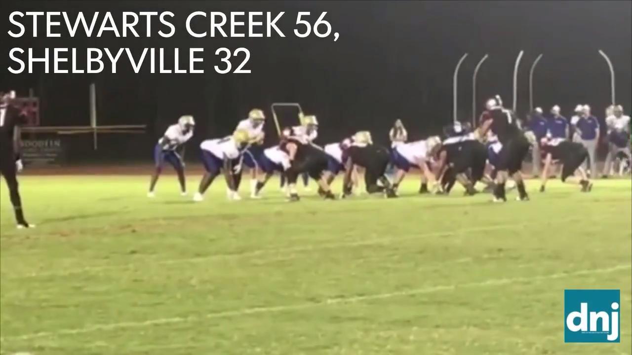 Friday night highlights: Stewarts Creek 56, Shelbyville 32