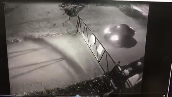 The Montgomery County Sheriff's Office is looking for the driver of this vehicle after it damaged the entrance gate at Rotary Park early on Sept. 9