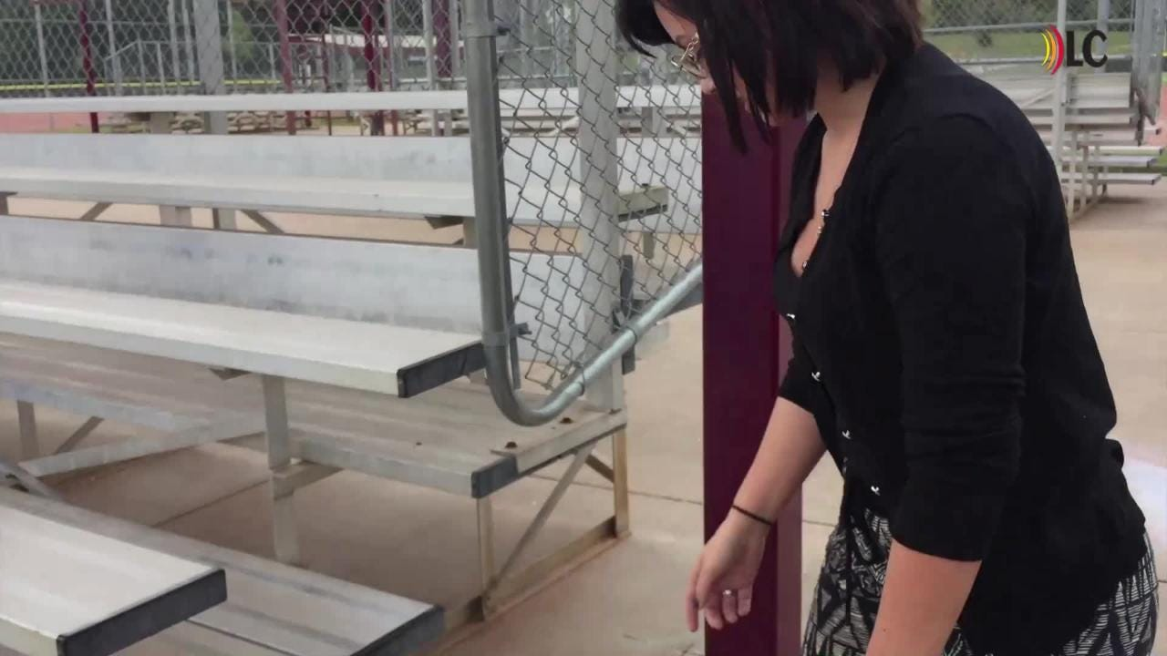 Chelsey Brown's wedding rings got caught on a chain link fence at Civitan Park and couldn't be saved