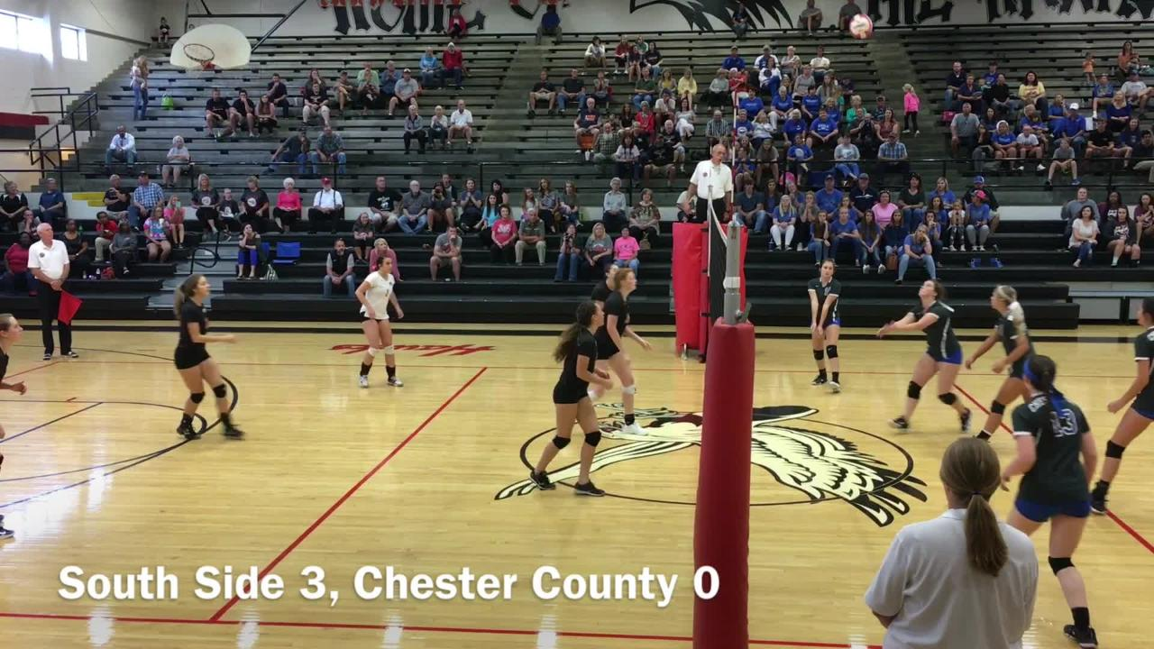 South Side beat Chester County 3-0 in the District 13-AA tournament championship on Oct. 5, 2017.