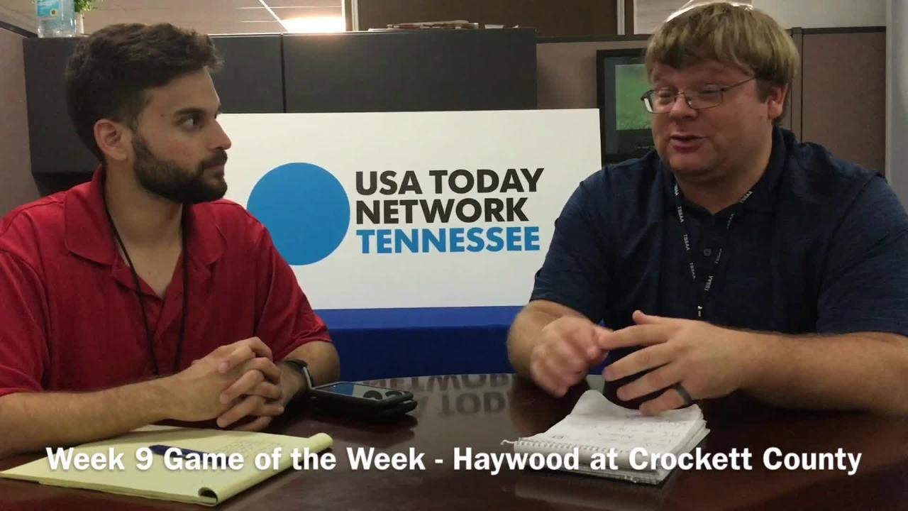 Sports writers Michael Odom at Luis Torres discuss our Week 9 Game of the Week between Haywood and Crockett County.