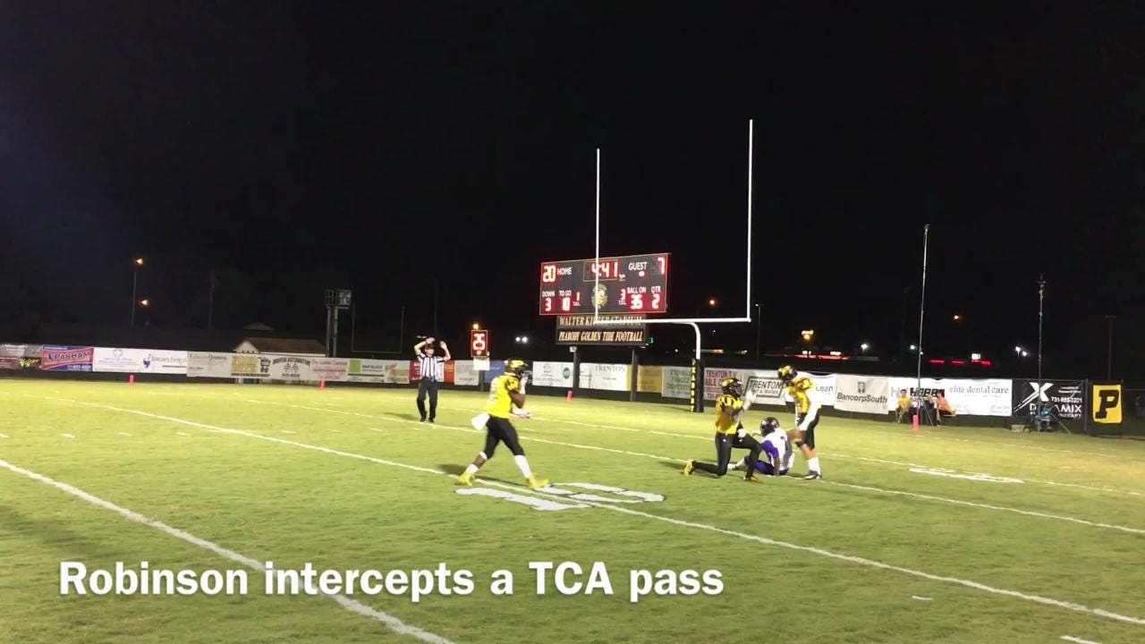 Trenton Peabody beat TCA 61-21 in a Region 7-2A game during Week 10 on Oct. 20, 2017.
