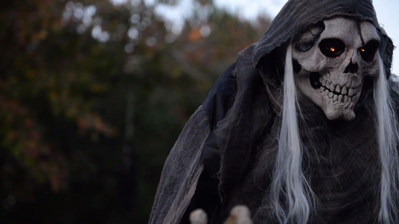 Yolanda and Joey Wall got married in a haunted house 2 years ago. For their anniversary, Joey started to build decorations for their yard. After months of work, the couple is ready to throw a haunted party.