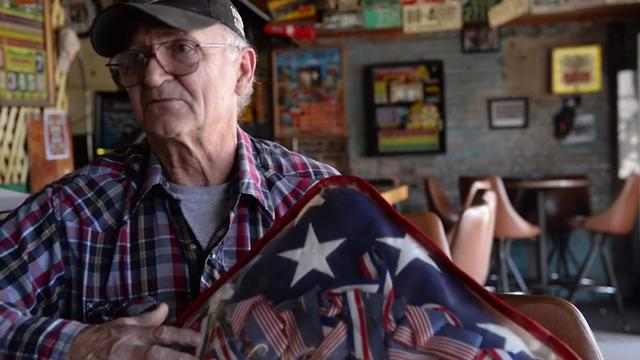 Neely Owens talks about how the folded American flag and boxing medals were found, and his journey in trying to find the family it belongs to.