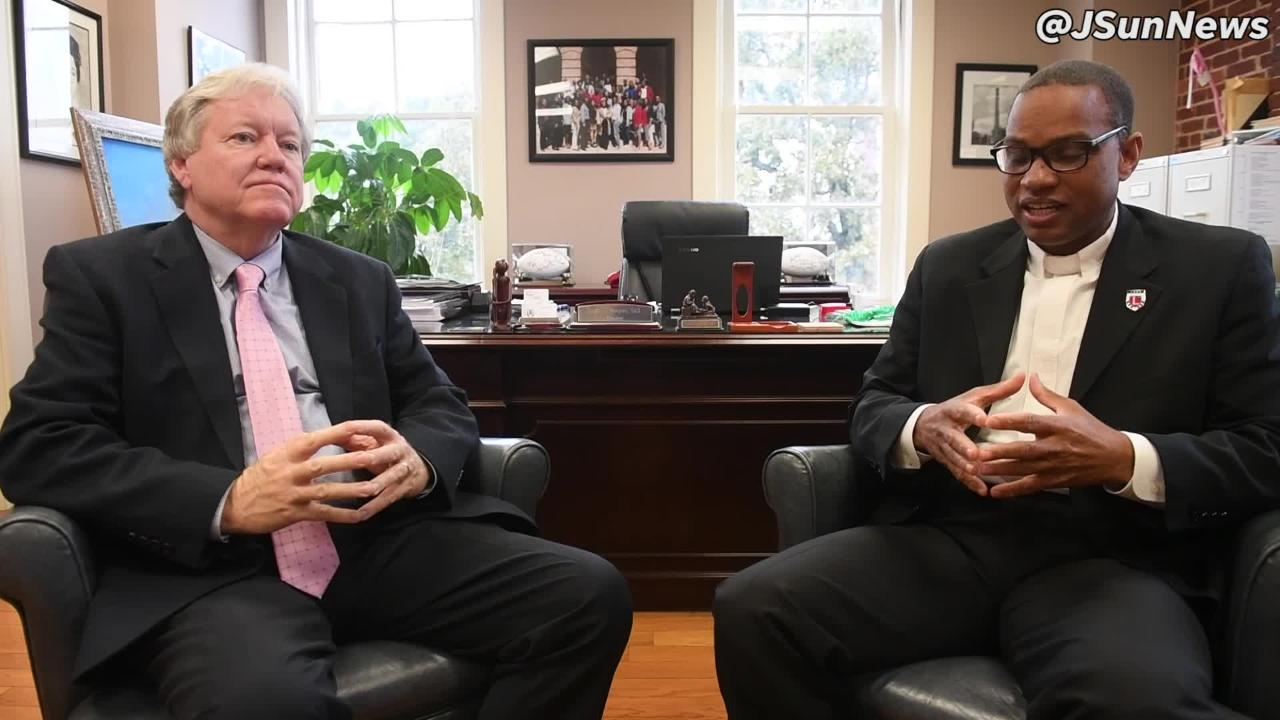 Lane College President Dr. Logan Hampton and Justice Roger Page discuss the SCALES program coming to Lane College.