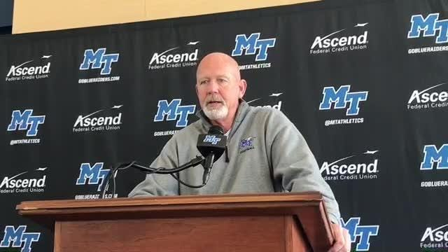 MTSU hosts Old Dominion at Floyd Stadium on Saturday with bowl eligibility at stake for both teams. Blue Raiders coach Rick Stockstill shares his thoughts on the game.