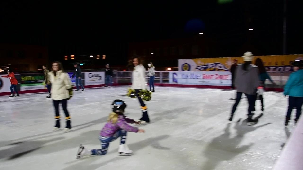Montgomery County holds opening day for ice skating at Downtown Commons Friday night in Clarksville.