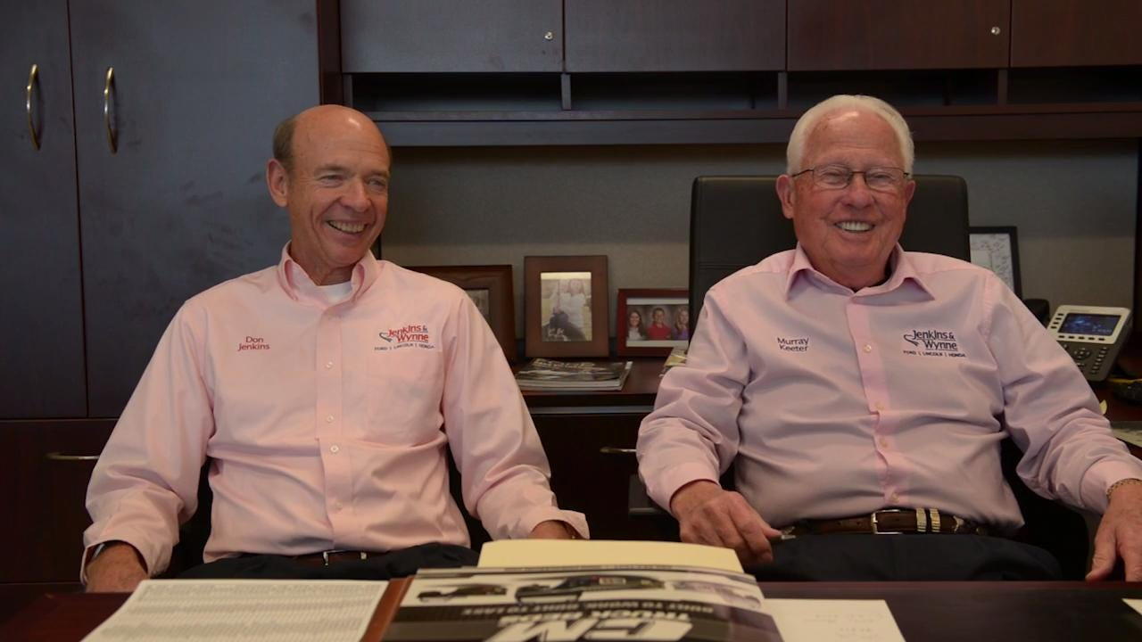 General Manager Murray Keeter, 79, is retiring from Jenkins & Wynne after working since 1962. Don Jenkins, president and CEO of the Jenkins & Wynne car dealerships, talks about Keeter's impact on the company, employees and customers.