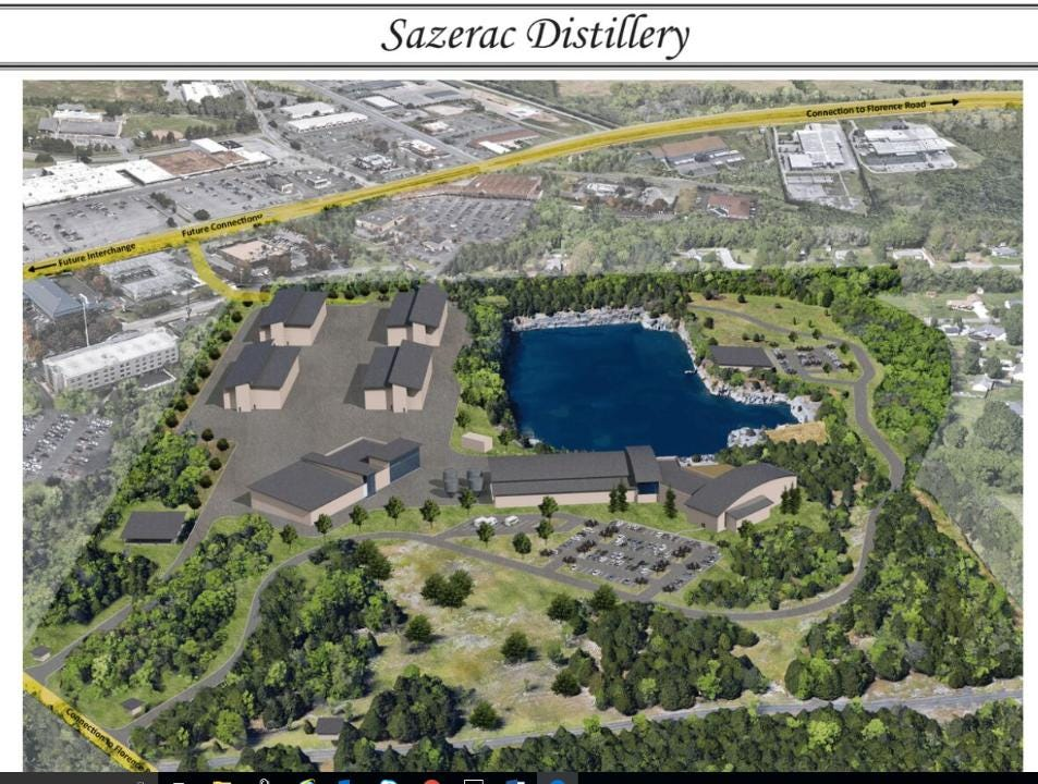 Louisiana-based Sazerac Co. proposes to build a distillery on 55 acres along Asbury Road off Florence Road in Murfreesboro.