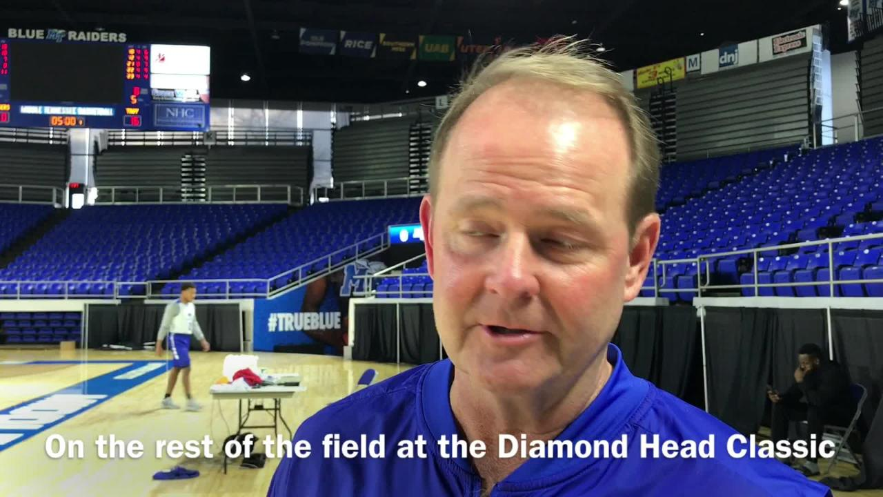 MTSU coach Kermit Davis shares his thoughts on facing Princeton and the rest of the field at the Diamond Head Classic in Hawaii.