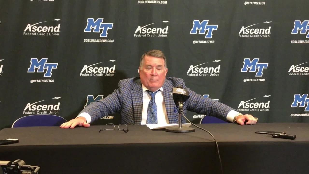 MTSU coach Rick Insell on his team's 62-57 win over Kentucky, MTSU's final game of its nonconference schedule.