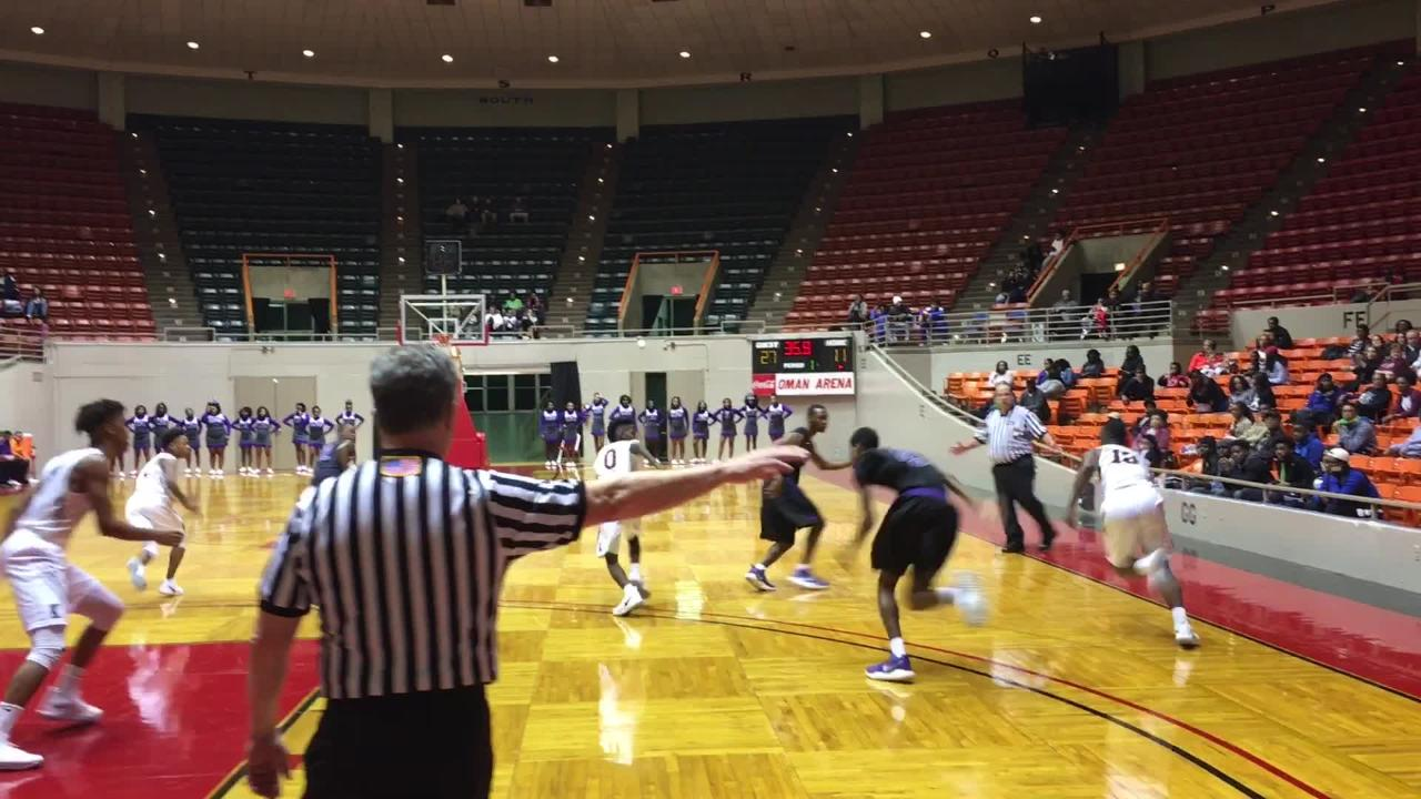 Haywood boys beat Sacred Heart in the opening round of the HUB Classic at Oman Arena 73-52 on Dec. 28, 2017.