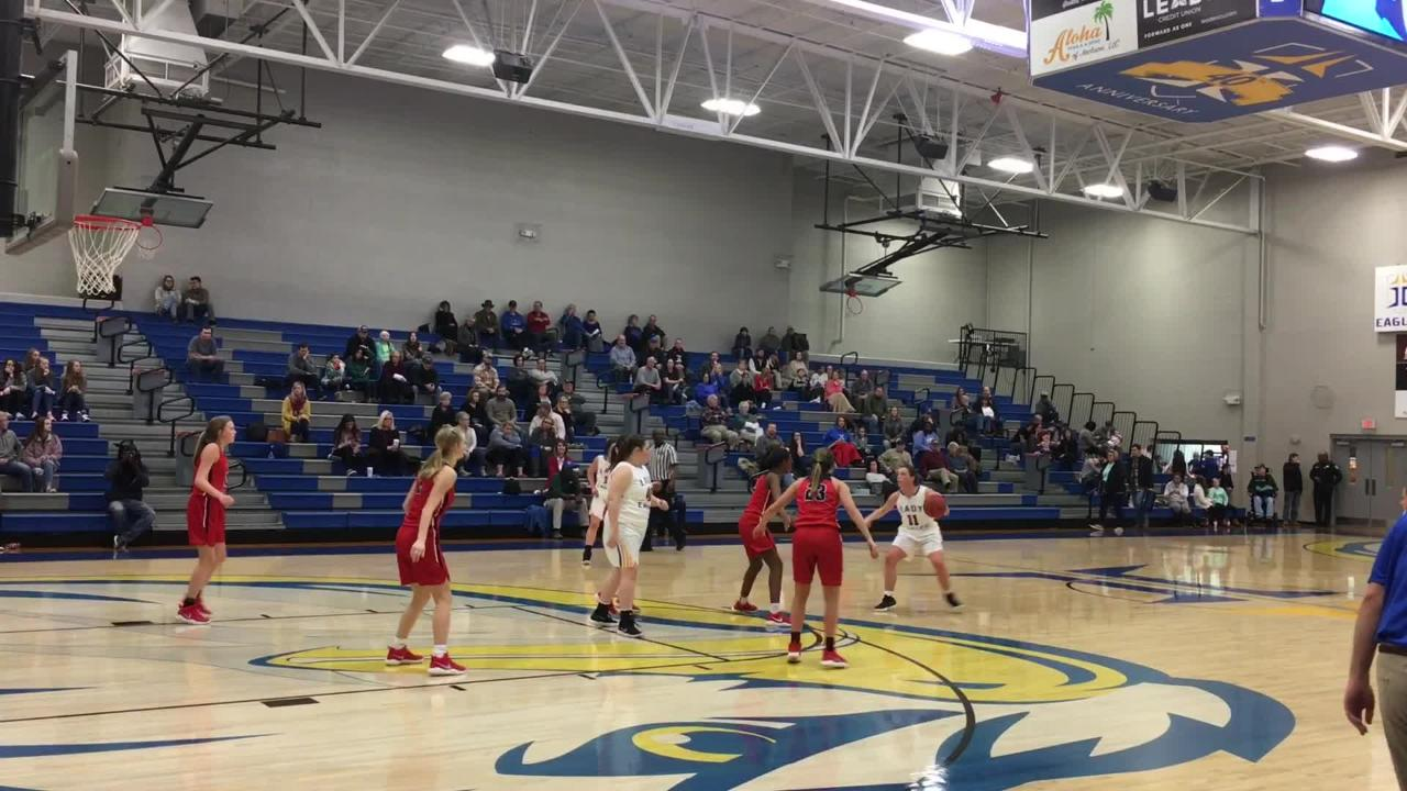 Jackson Christian girls pulled off a 56-54 victory over Tipton-Rosemark in district play on Jan. 2, 2017.