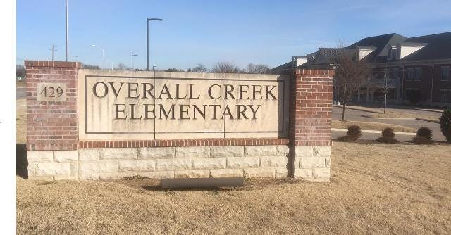 Bridge leads to Overall Creek Elementary