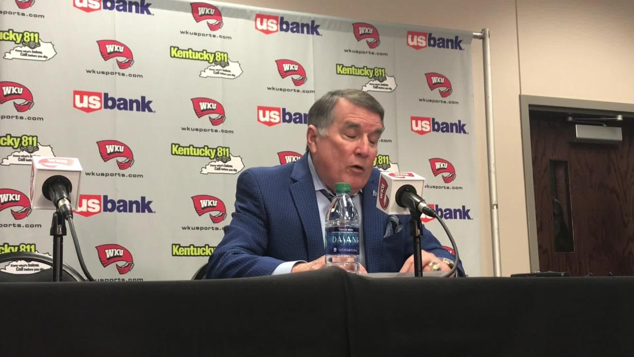 MTSU coach Rick Insell addresses his team's post struggles in the absence of Alex Johnson after the Lady Raiders' 57-43 loss at Western Kentucky.
