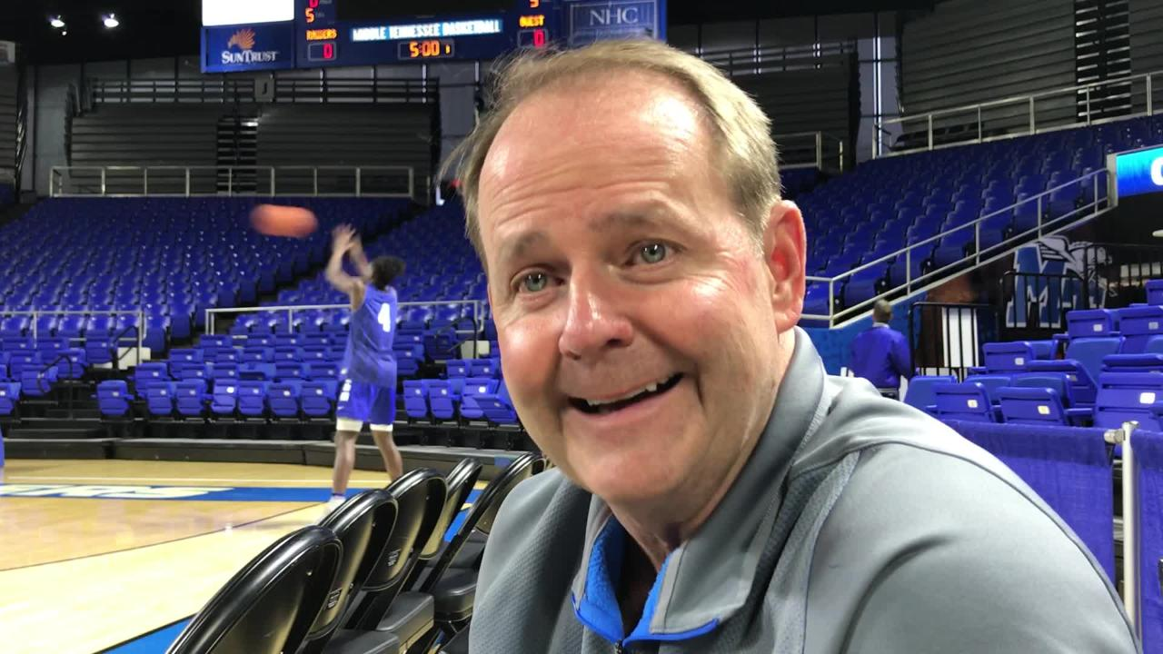 When MTSU hosts Louisiana Tech on Thursday, it will have been 33 days in between games at Murphy Center for the Blue Raiders. MTSU coach Kermit Davis shares his thoughts.